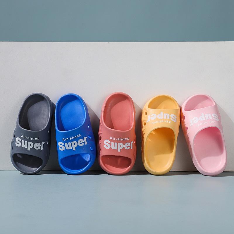 2021 new children's flip flops EVA bathroom non-slip slippers for boys and girls outdoor cute padde