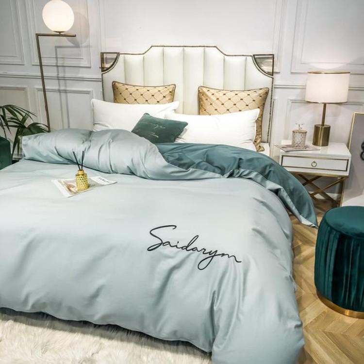 The new 60-piece cotton quilt cover single piece 1.8x2.2m pure cotton four-piece cover 150x200 doubl