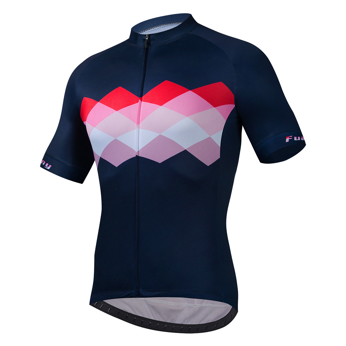 Fualrny Summer Bike Cycling Jersey Short Sleeve Men's Sunscreen Top Quick-drying Perspiration Cycli