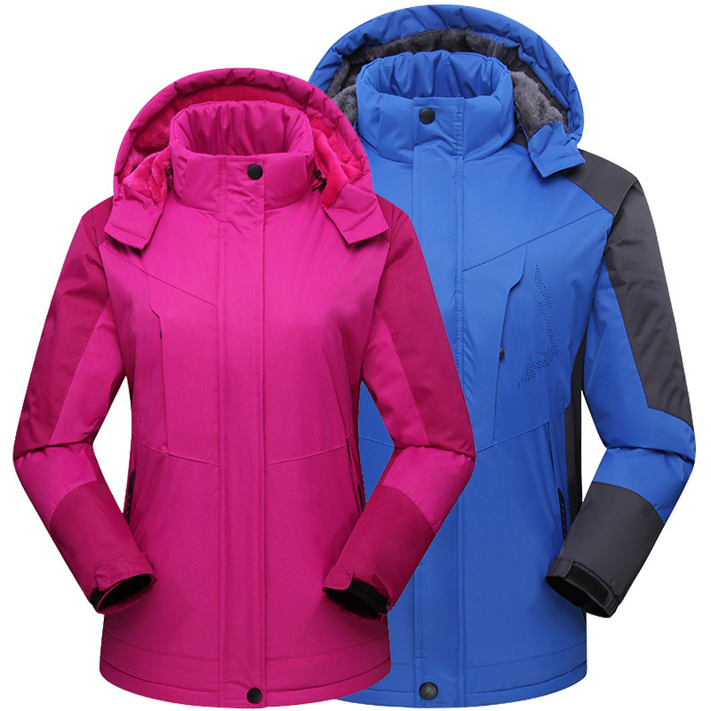 Soft shell jacket three-in-one plus velvet thick jacket winter outdoor jacket