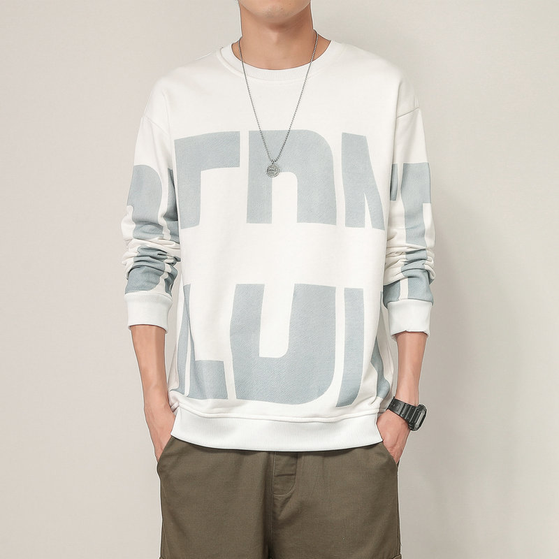 2021 spring and autumn new long-sleeved sweater men's Korean version of the trend of youth loose ca