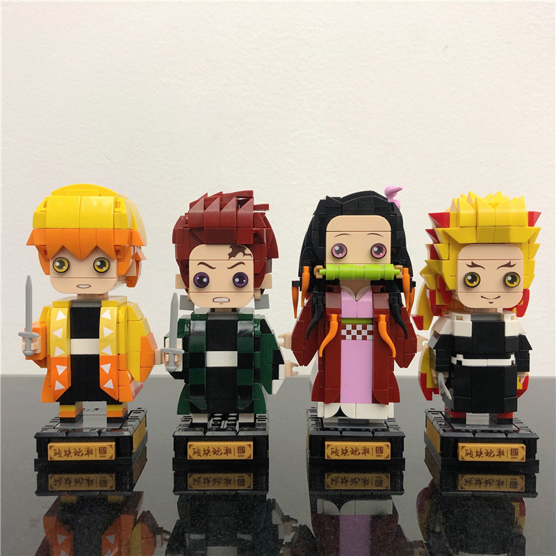 LP Ghost Slayer Peripheral Anime Hand Office Aberdeen Tanjiro Assembled Building Block Toys Square H