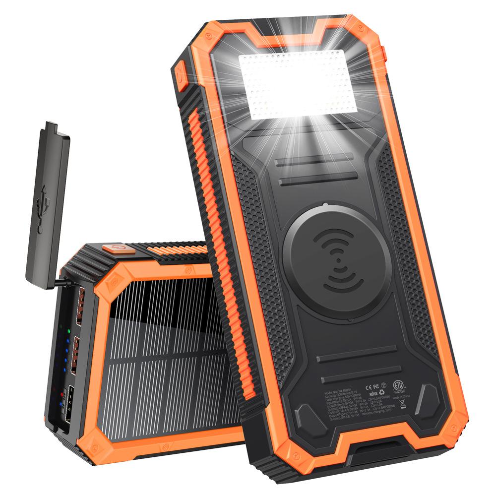 Xionel Waterproof solar power bank PD fast charging 30000mAh wireless power bank for mountain lighti