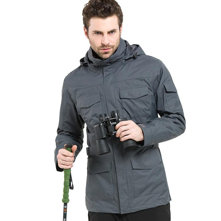 Outdoor jacket men's ski suit three-in-one fleece two-piece ski mountaineering suit fishing suit