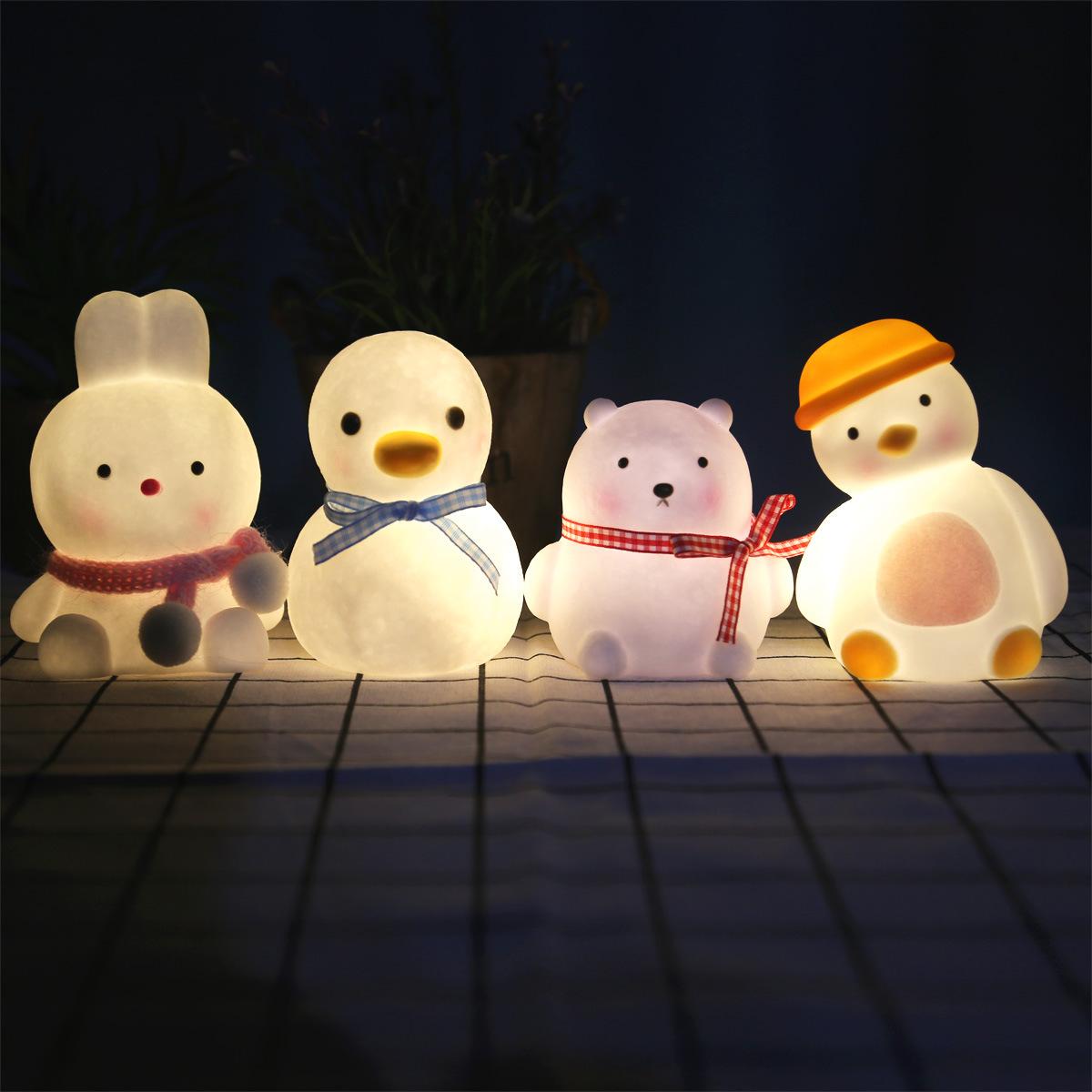Explosive led vinyl night light duck cartoon ins creative ornaments night market stall supplies nigh