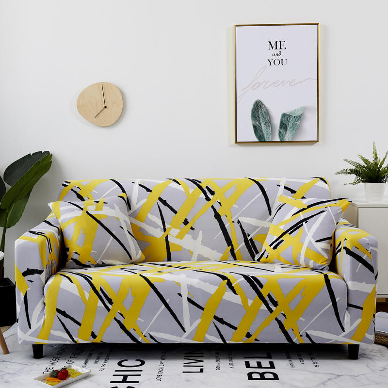Sofa cover All-inclusive non-slip elastic printed sofa cover Old-fashioned sofa cover Full cover fab