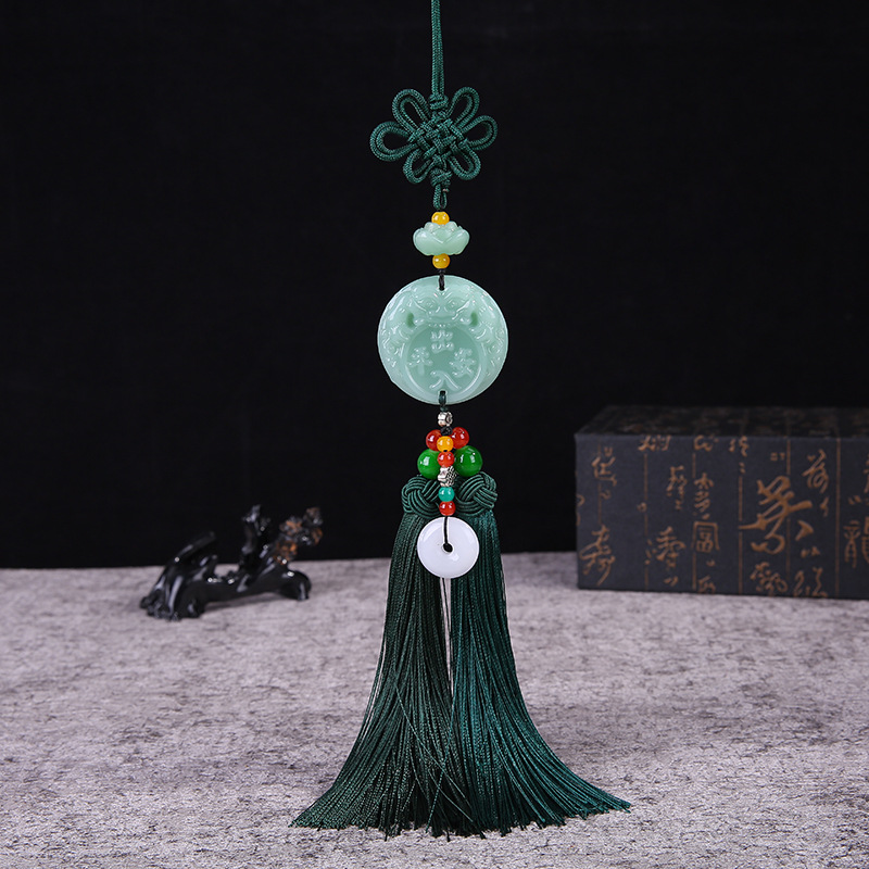 Safe buckle car pendant in and out of Ping An Chinese knot tassel car ornaments car pendant pendant