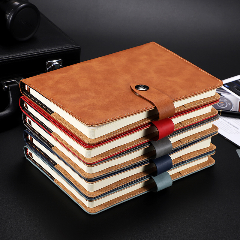 Notebook literary and artistic simple metal buckle college students small fresh diary corporate work
