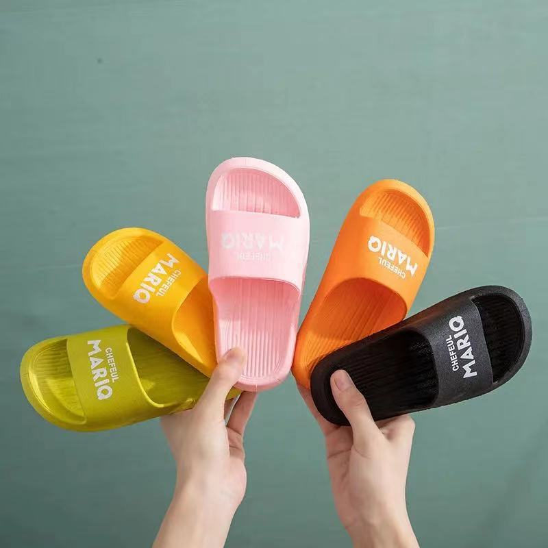 Children's slippers for boys and girls summer 2021 cartoon outer wear baby slippers one non-slip so