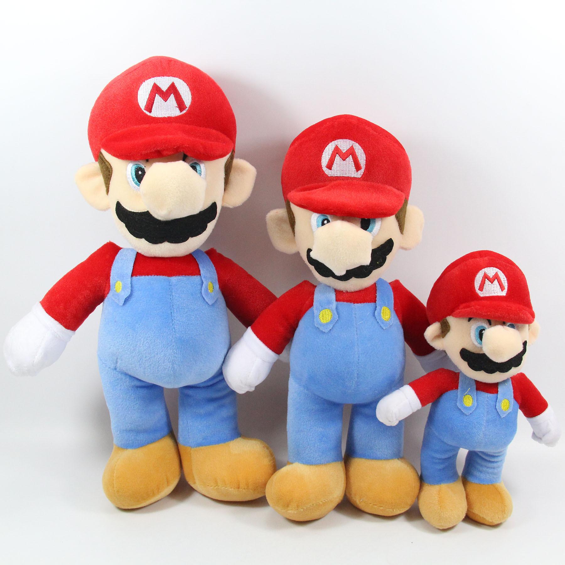 Cartoon animation peripheral game Mario Mario Station Mario plush doll children's toy gift