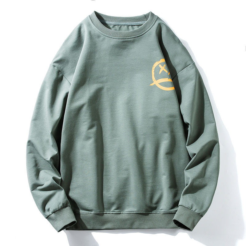 Men's long-sleeved sweater spring tide brand 2021 new thin loose large size youth tide sweater bott