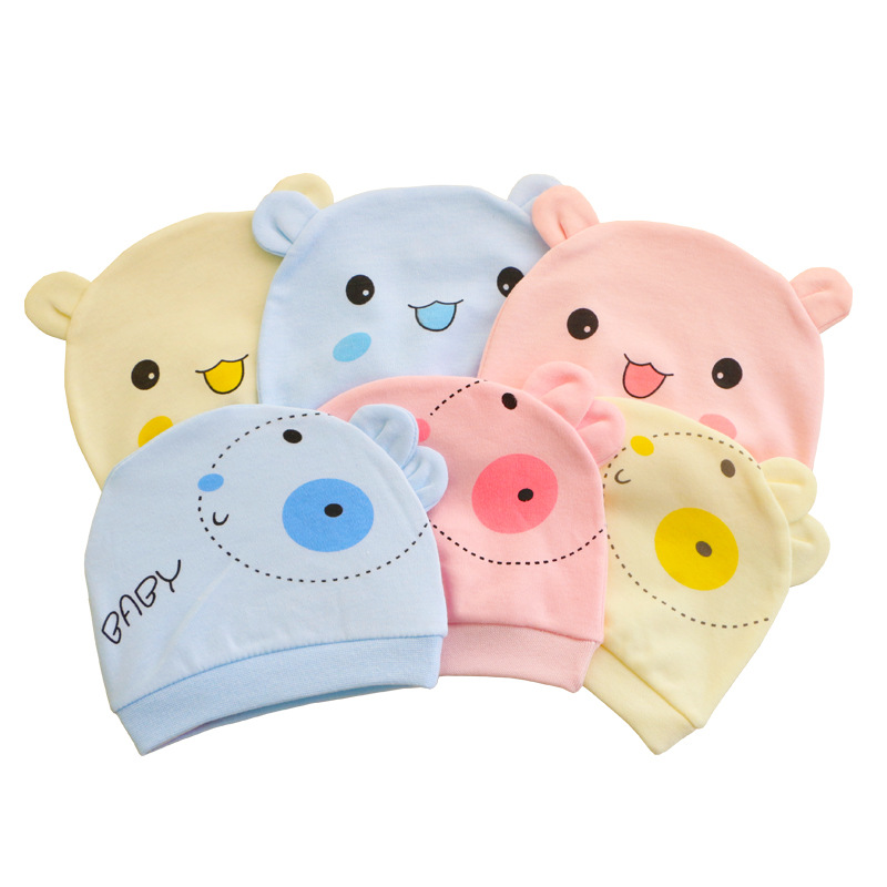 Child star newborn baby cotton environmental protection hat factory direct sales of maternal and chi