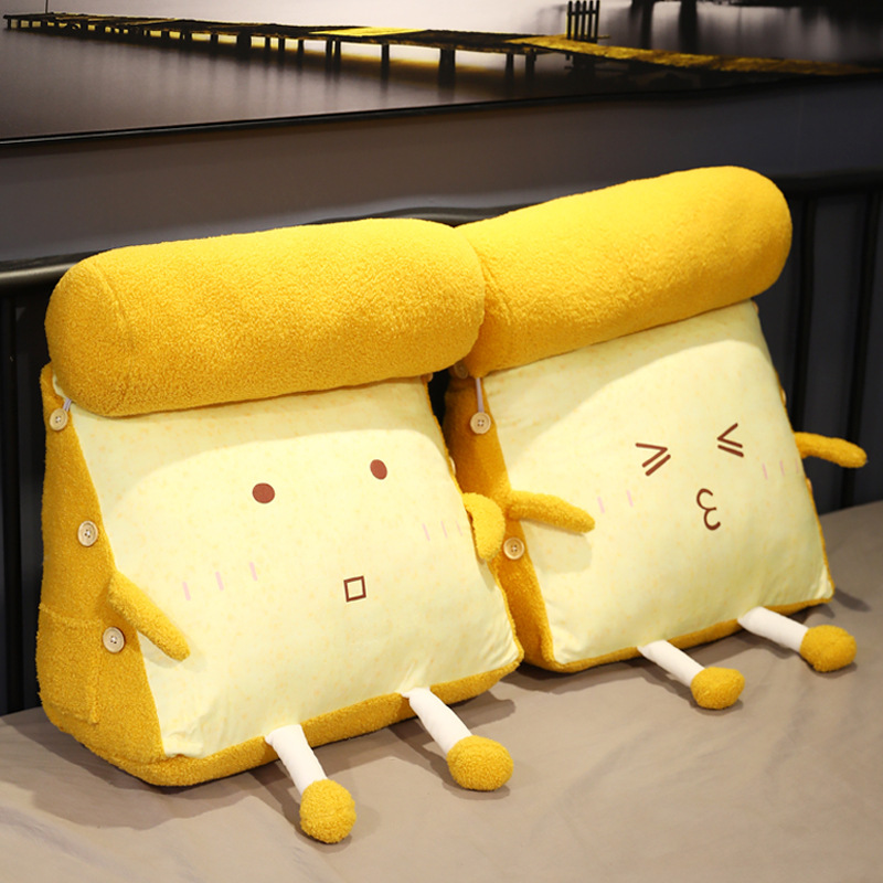 Toast bread bed triangle pillow bedside cushion backrest removable and washable bedroom pillow pillo