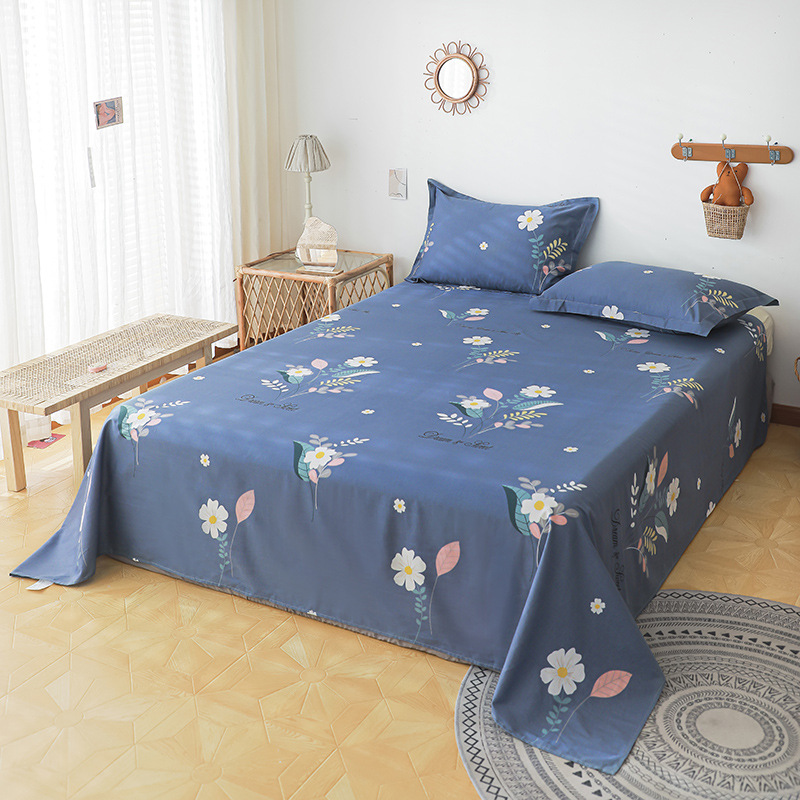 Cotton bed, pure cotton, single-piece single dormitory, double household foreign trade bedding, simp