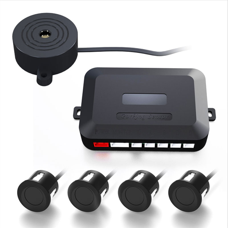 The probe has no screen, pure buzzer parking sensor, easy installation, general non-display parking
