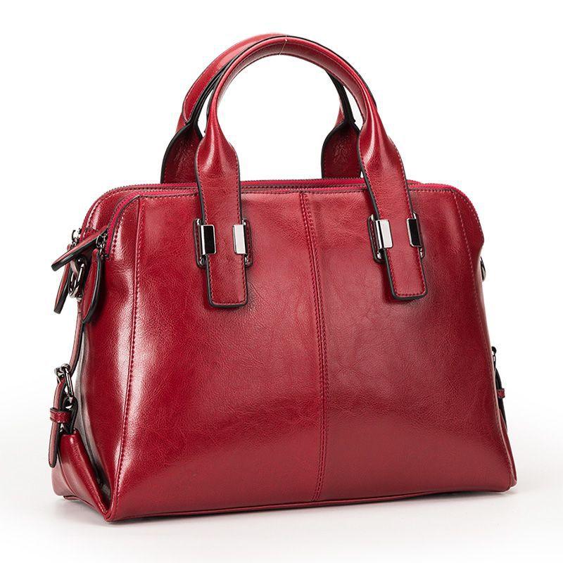 European and American new fashion handbags cowhide retro one-shoulder ladies leather portable diagon