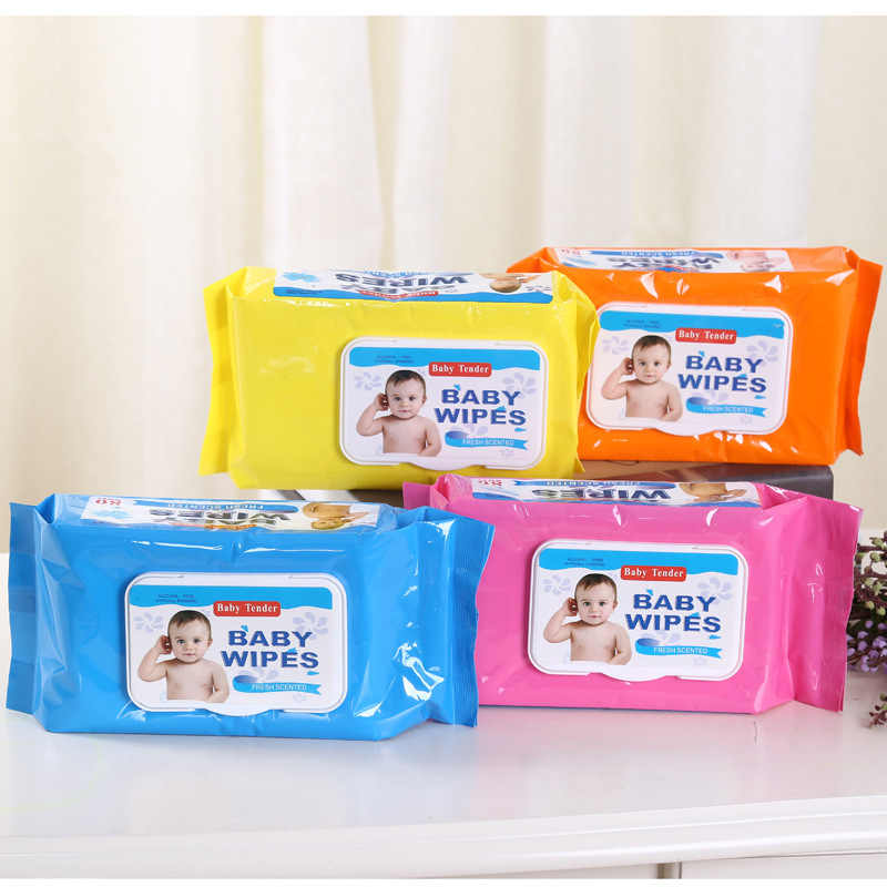 Wet wipes baby 80 pumping with lid baby newborn child hand mouth disposable wet wipes