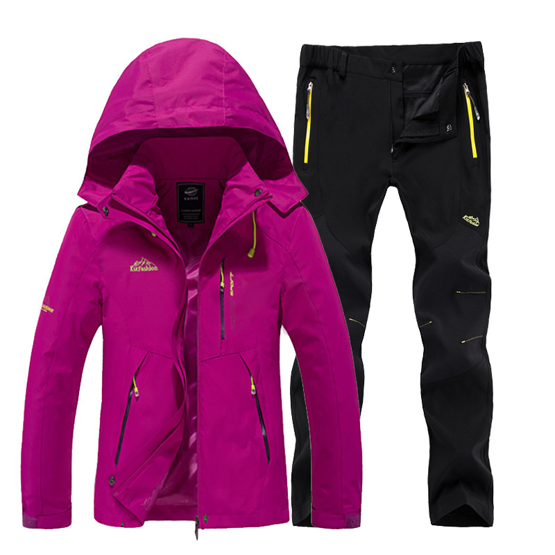 Outdoor jacket women spring and autumn single-layer thin jacket pants suit mountaineering jacket