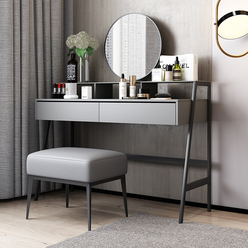 Italian minimalist dressing table makeup mirror makeup stool combination bedroom modern minimalist i