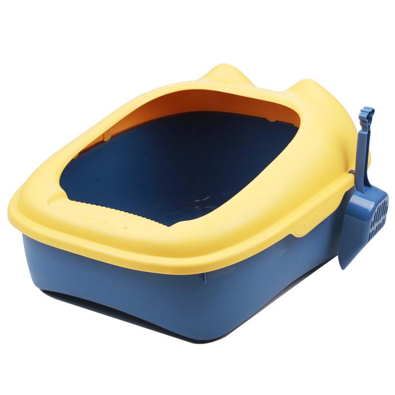 Semi-enclosed litter box cat toilet pet supplies high-side anti-splashing cat litter box large free