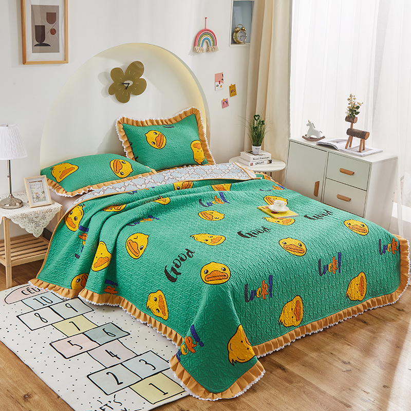 Cotton Tatami Bed Cover Tatami Cotton Bed Cover Three-piece Cotton Sheet Bed Cover Blanket Cotton Qu