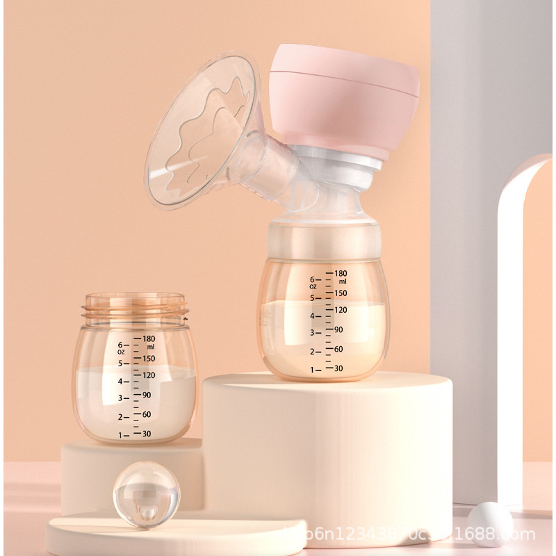 Electric breast pump integrated postpartum milking suction power massage silent portable breast pump