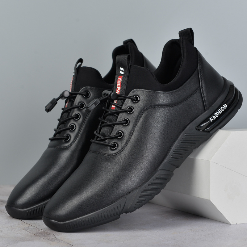 Shoes 2021 men's spring and summer new first layer cowhide shoes leather outdoor sports single shoe