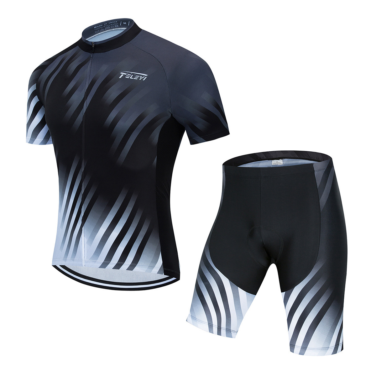 Cycling clothing short-sleeved suit men's summer breathable cycling shirt road mountain bike cyclin