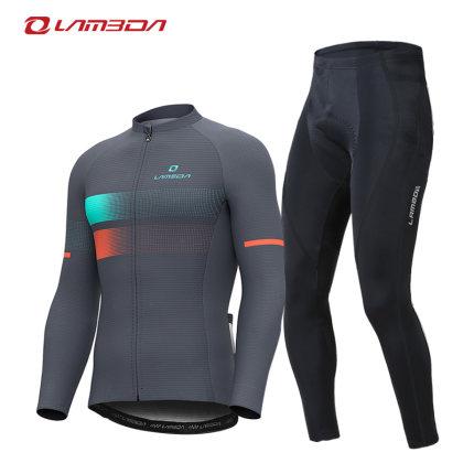 Lampada Trang phục xe đạp  mùa xuân và mùa hè đi xe đạp quần áo áo sơ mi nam dài tay quần tây thiết