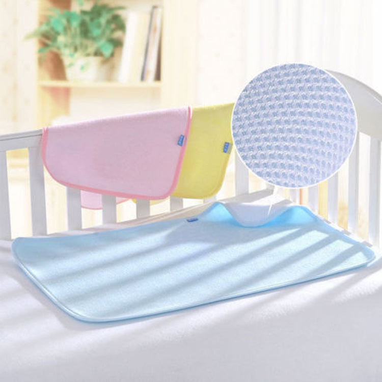 Natural fiber comfortable and waterproof 3D baby changing mat Tencel breathable and quick-drying mes