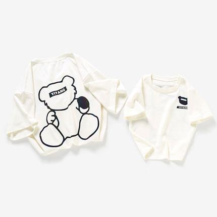 Áo thun gia đình in hình Gấu bear dễ thương .