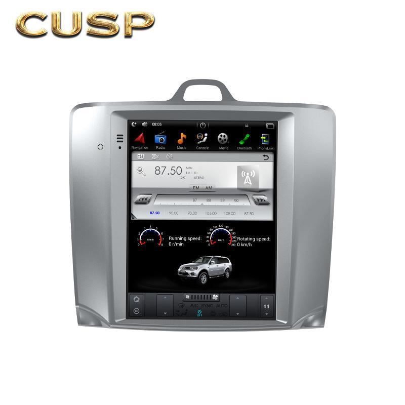 CUSP Vertical screen Fox manual air conditioner 10.4-inch car audio and video car GPS Android naviga