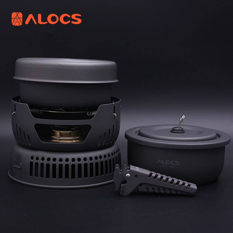 Ailuke picnic supplies outdoor cooking utensils portable set alcohol stove self-driving travel equip