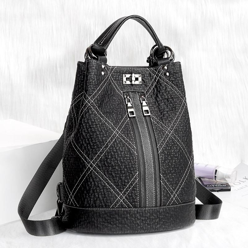 AINA Genuine leather handbags 2020 spring and summer new Korean version of the three-purpose multi-f