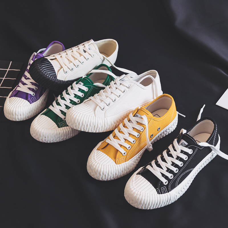 Lightning 2021 spring new Korean version of biscuit shoes female students classic canvas shoes retro