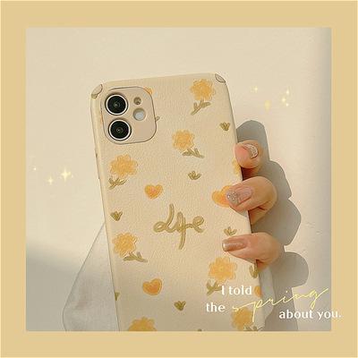 TAXIA bao da điện thoại Han Feng in sơn dầu hoa vỏ điện thoại di động Apple 11 vỏ da iphone12 12pro