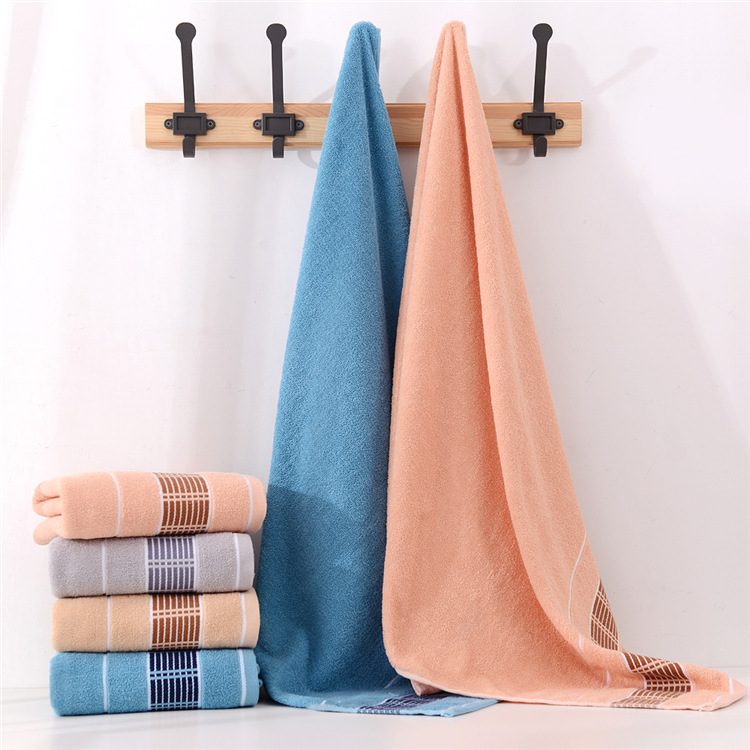 Thick jacquard soft absorbent home daily corporate gift beach towel bath towel