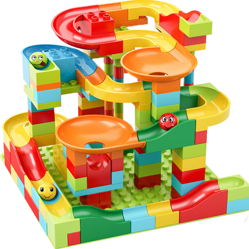 Compatible with Lego blocks, large particle slides, children's assembling, intelligence, brain, gir