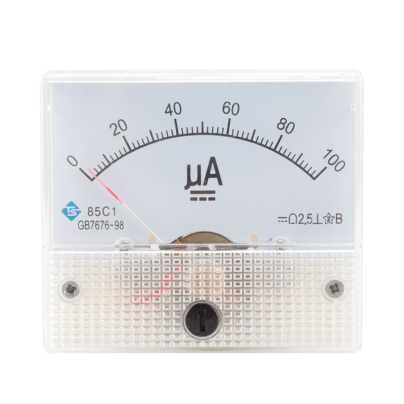 TS Pointer type DC ammeter microampere high precision DC meter 85C1 installation type measuring inst