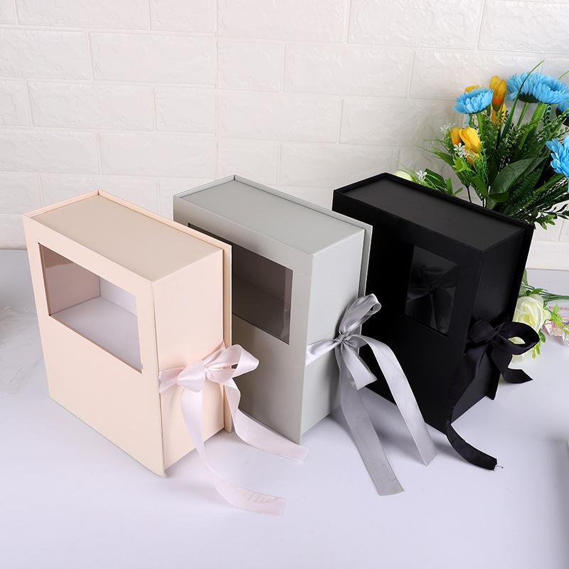 NAJIE Gift box packaging box gift packaging carton clamshell gift box packaging custom flower box se