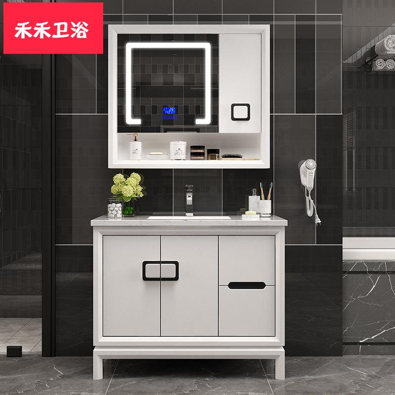 Bộ chậu rửa kết hợp tủ kính thông minh cho Phòng tắm .