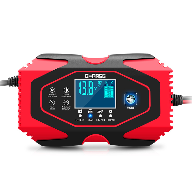 E-FAST car battery charger motorcycle lead-acid lithium battery 12V24V battery charger