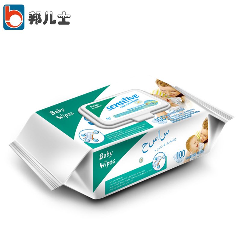 Baby 80+20 pumping baby wipes with lid (100 pumps)