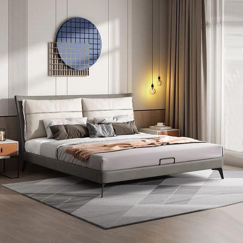 FUBENJU Italian minimalist fabric bed modern minimalist bedroom furniture master bedroom double bed