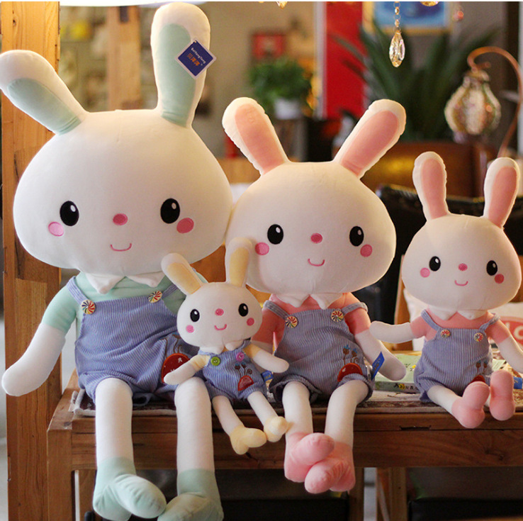 New Rabbit Plush Toy Pillow Striped Doll Ragdoll Birthday Gift Event Gift