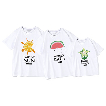 Áo thun gia đình  Áo thun phụ nữ và phụ nữ áo thun cha mẹ trẻ em mùa hè năm 2021 mới hợp thời trang
