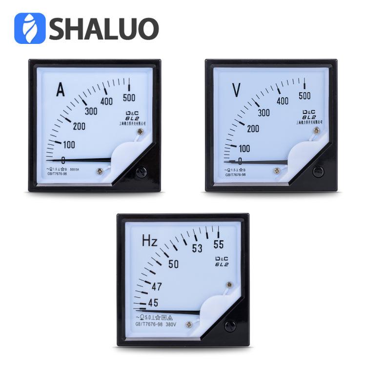 SHALUO Generator set pointer meter 6L2 measuring meter voltmeter 0-500v frequency meter ammeter