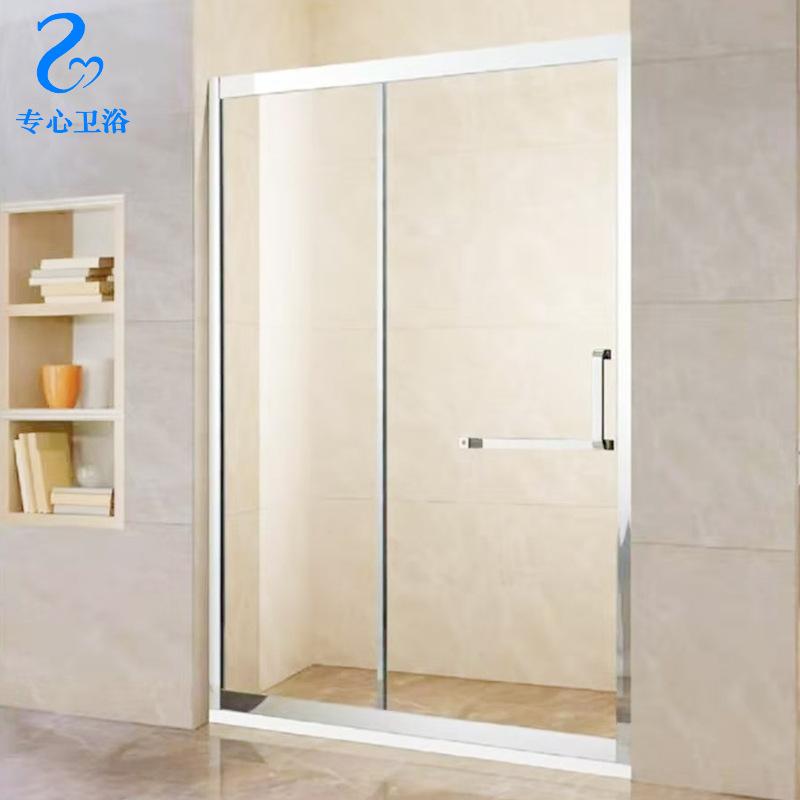 Shower room partition overall shower room in-line bathroom bathroom glass door dry and wet separatio