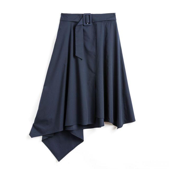 Orilelee 2021 new women spring and summer irregular skirt bamboo fiber fabric