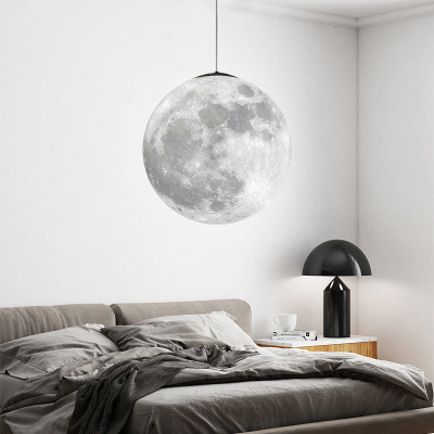 Đèn treo trần In 3D mặt trăng ánh sáng mặt trăng đèn chùm phòng khách phòng ăn khách sạn hiện đại qu
